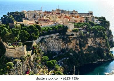 Monaco, Monte Carlo, Riviera,rocky island,