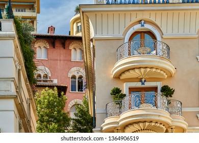 Monaco, Monte-Carlo - 03/08/2011 a contrast of different architectural eras on the streets of Monte Carlo