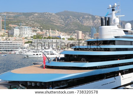 Exhibition Stand Tenders : Monaco monte carlo 28092017 largest exhibition yacht stock photo