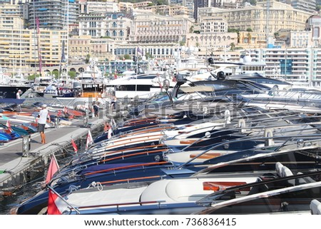 Exhibition Stand Tenders : Monaco monte carlo 29092017 riva pier on stock photo edit now