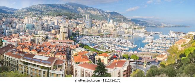 Monaco Monte-Carlo panorama view