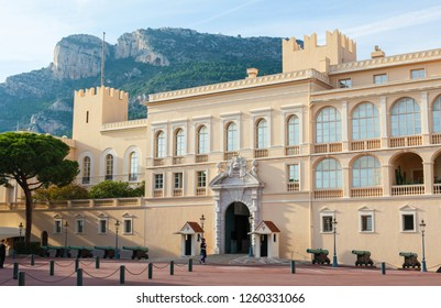 Monaco - November 13, 2018: The Prince's Palace of Monaco is the official residence of the Sovereign Prince of Monaco