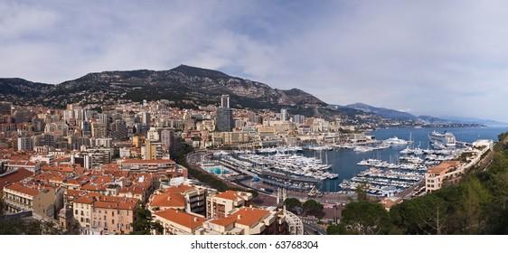 Monaco panoramic view, summer