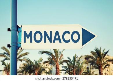 Monaco Road Sign