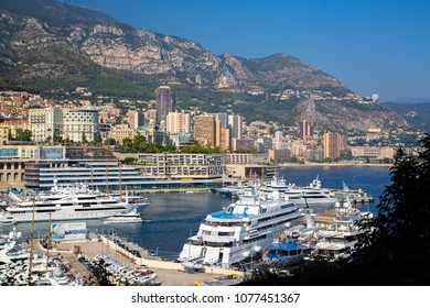 Monaco, Monaco - September 23, 2013: Port of Monaco. Yachts and ships in the Monaco port