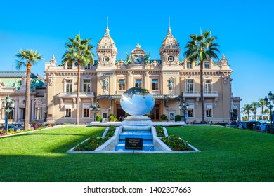 MONACO - SEPTEMBER 26, 2018: Monte Carlo Casino is an entertainment complex includes casino, Grand Theatre and Les Ballets de Monte Carlo in Monaco