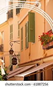 Monaco streets and houses