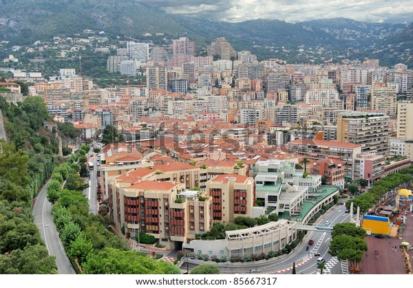 Monaco, view of Monte-Carlo.
