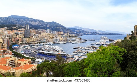 Monaco, view of the port and La Condamine.