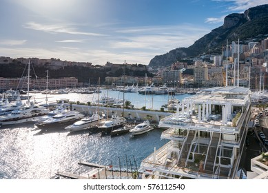 Monaco's famous harbour, Port Hercule, is a stunning haven for yachts and smaller vessels year round.
