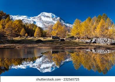 Monal lake in Savoie
