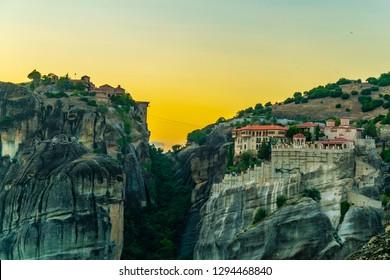 Monasteries of Varlaam and great meteor monastery at Meteora, Greece