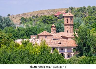 Monasterio de Piedra in the Natural park of Monasterio de Piedra in Nuevalos, Zaragoza, Spain