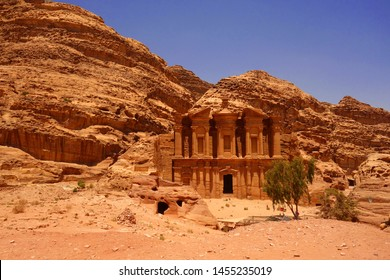 Monastery in ancient city of Petra Jordan