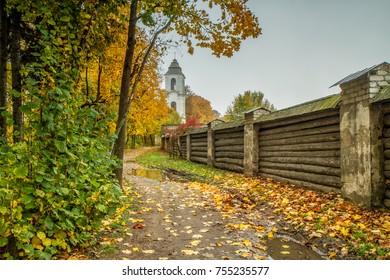 Monastery in autumn