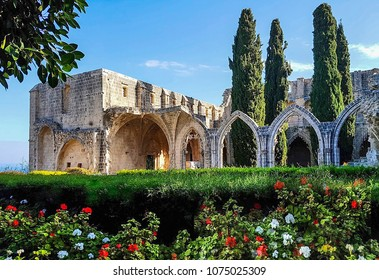 the monastery in bellapais, a small village in northern cyprus
