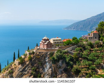 monastery buildings on Mount Athos, Greece