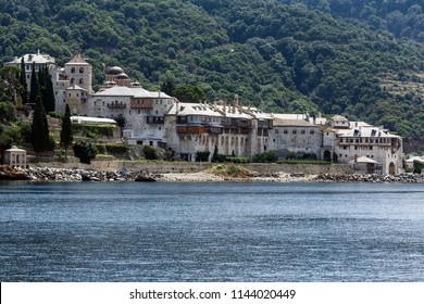 monastery by the sea , Mt Athos