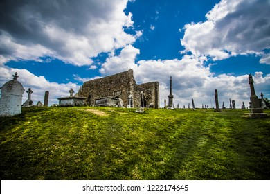 The monastery of Clonmacnoise is situated in County Offaly, Ireland on the River Shannon south of Athlone.