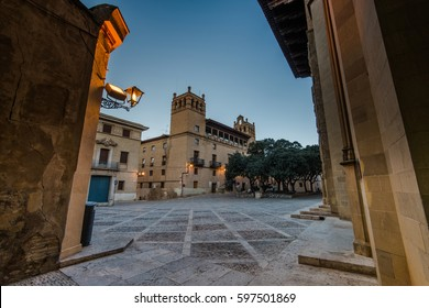 Monastery de San Pedro el Viejo in Huesca,Spain at early morning