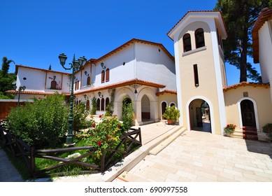 Monastery of Faneromeni on the island of Lefkada in Greece