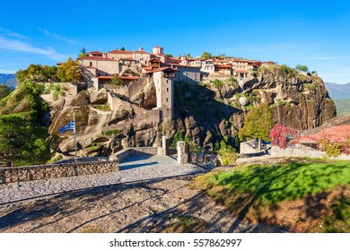 The Monastery of Great Meteoron is the largest monastery at Meteora. Meteora is one of the most precipitously built complexes of Eastern Orthodox monasteries in Greece.