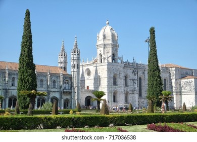 The Jerónimos Monastery or Hieronymites Monastery is a former monastery of the Order of Saint Jerome near the Tagus river in the parish of Belém, in the Lisbon Municipality, Portugal