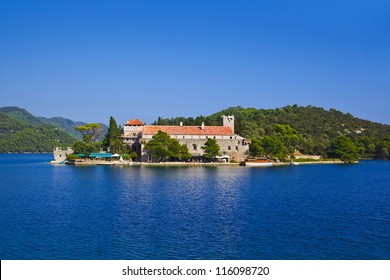 Monastery at island Mljet in Croatia - travel background