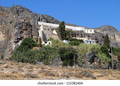 Monastery of Kapsa at Crete island in Greece