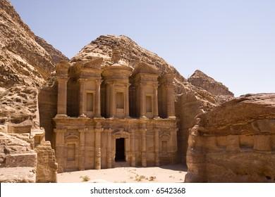 The Monastery - largest building at Petra Jordan
