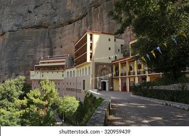 Monastery of mega spilaion near kalavryta village at Greece