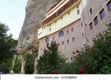 Monastery of mega spilaion near kalavryta village at Greece Peloponnes