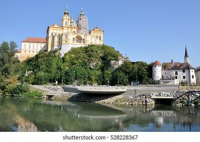 Monastery and Melk, Austria, Europe