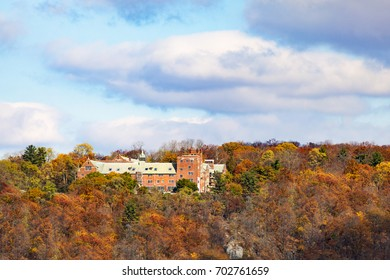 Monastery in the mountains. Bear Mountains. Rockland County, New York
