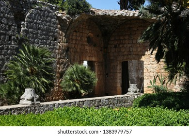 Monastery on the island of Lokrum, Croatia, famous filming location of Game of Thrones