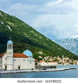 Monastery on the island in town Perast, Kotor bay, Montenegro.
