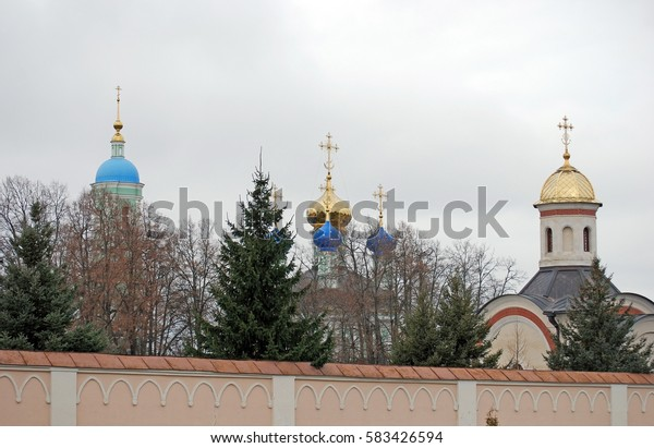 Monastery Optina Pustyn in the fall. City of Kozelsk. Russia