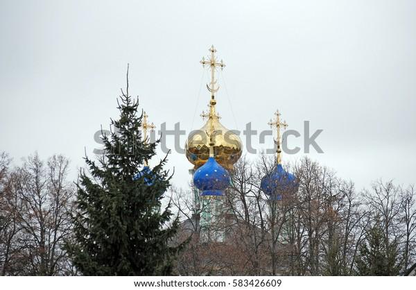Monastery Optina Pustyn in the fall. City of Kozelsk. Russia