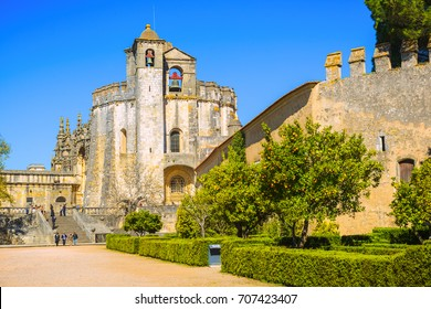 The Monastery of the Order of Christ is the main attraction of the city of Tomar. Santarem District. Portugal.