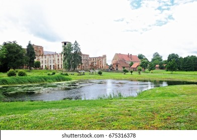 Monastery and palace complex Dargun with pond Germany