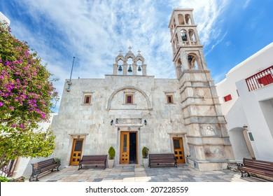 Monastery of Panagia Tourliani in Ano Mera, Mykonos, Cyclades, Greece