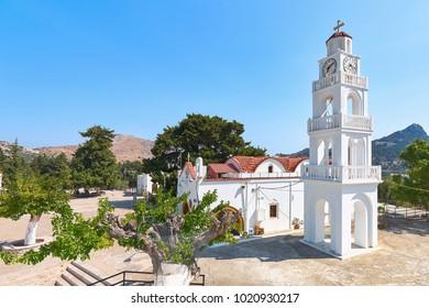 The Monastery of Panagia Tsambika in Rhodes