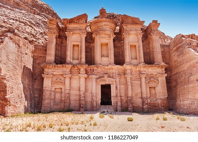 The Monastery of Petra is the largest of the magnificent carved tombs from the ancient necroplis that still exists.