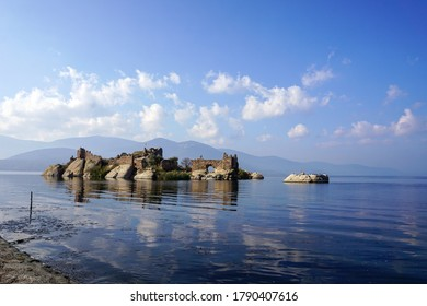 Monastery Ruins Situated on An Islet on Lake Bafa Nature Park Just Across The Kapikiri Village.