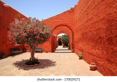 The Monastery of Saint Catherine (Santa Catalina), Arequipa, Peru  It belongs to the Dominican Second Order. It's built predominantly in the Mudejar style in 1579 and was enlarged in the 17th century.