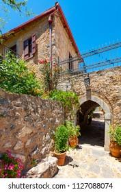 Monastery of Saints Michael and Gabriel - Kremaston (Kremasti, Kremasta) Crete, Greece. The monastery Kremaston was founded in the 16th century (1593)