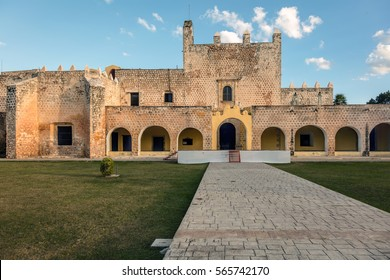 Monastery of San Bernardine of Siena in Valladolid, Yucatan, Mexico was the first church constructed on American soil, starting 1552, completed in 1560.