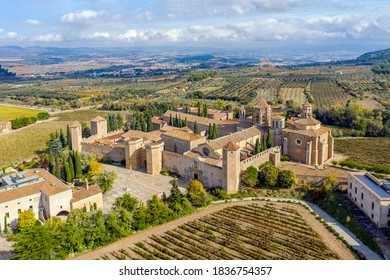 Monastery of Santa Maria de Poblet, Catalonia, Spain overview