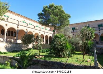 Monastery Santuari de Cura on Puig de Randa, Majorca, Spain