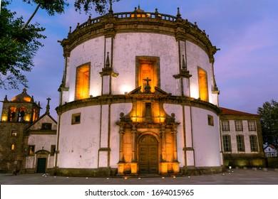 Monastery of Serra do Pilar in blue hour